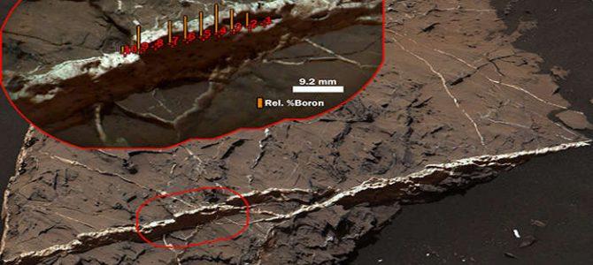 Boro é encontrado em Marte pela primeira vez