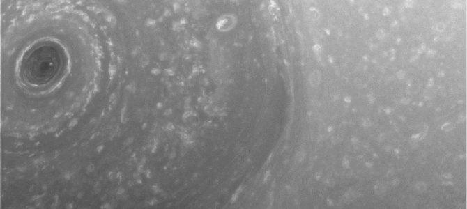 Sonda Cassini registra novas imagens do Polo Norte de Saturno