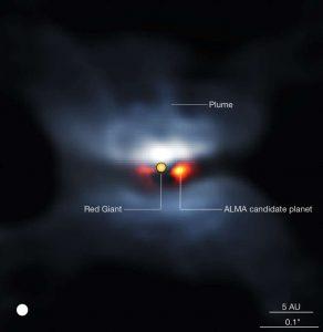 Imagem obtida pela observação do ALMA.