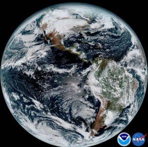 Essa imagem mostra o disco da Terra.