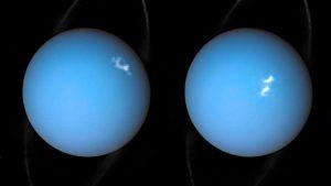 Auroras em Urano.