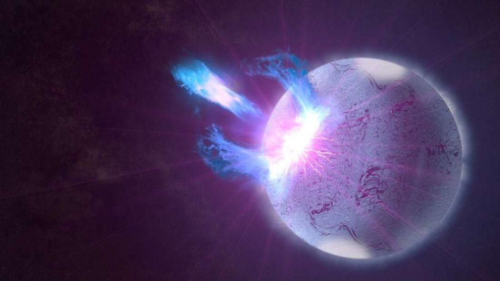 Concepção artística de uma estrela de nêutrons.
