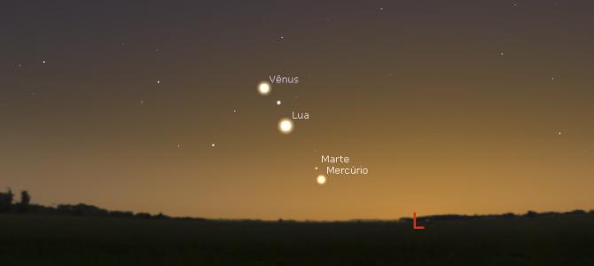 Fenômeno astronômico marcará o amanhecer desta segunda-feira