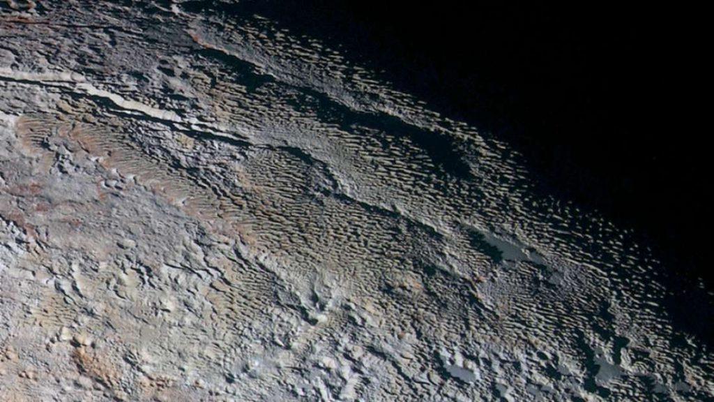 Imagem registrada pela sonda New Horizons.