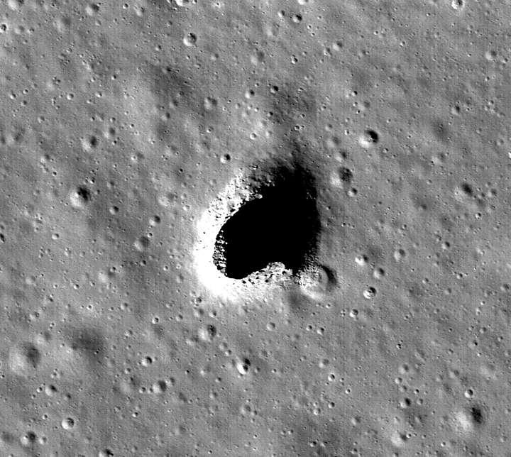 Imagem da cratera.