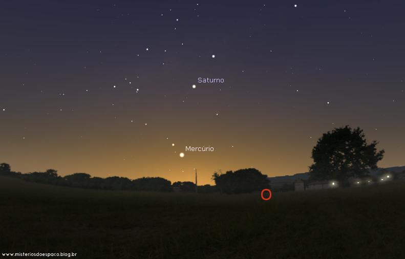 Vale ressaltar, que Mercúrio também está aparecendo no céu nos próximos dias, muito próximo do horizonte.