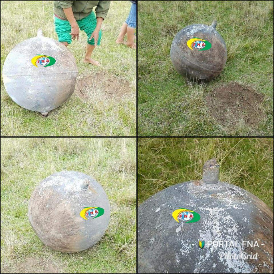 Tanque de Hidrazina que cruzou o céu do Acre. Imagens: Portal FNA