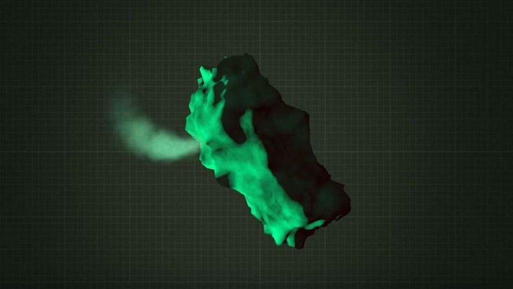 Impressão artística do cometa.