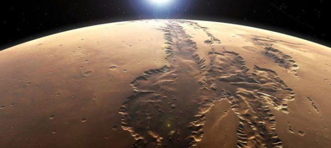 Grandes quantidades de água foram encontradas em Marte