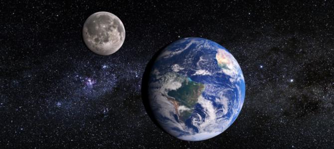 Foto mostra a Terra a uma distância de 63 milhões de quilômetros