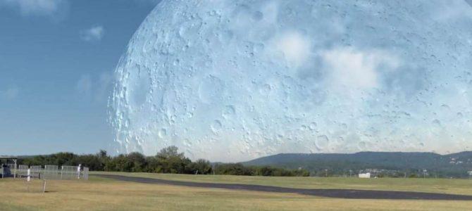 E se a Lua estivesse na mesma distância que a Estação Espacial Internacional?