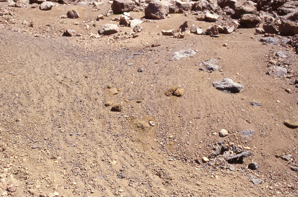 Imagem no vulcão Mauna Kea, no Havaí onde podemos ver o mesmo fenômeno observado em Marte.
