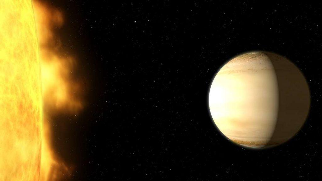 Concepção artística do exoplaneta.