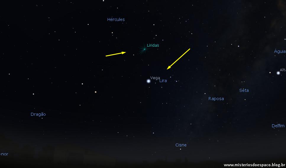 Use a estrela Vega como referência na localização.