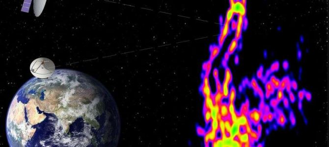 Registrada uma imagem em alta definição de jato vindo de buraco negro