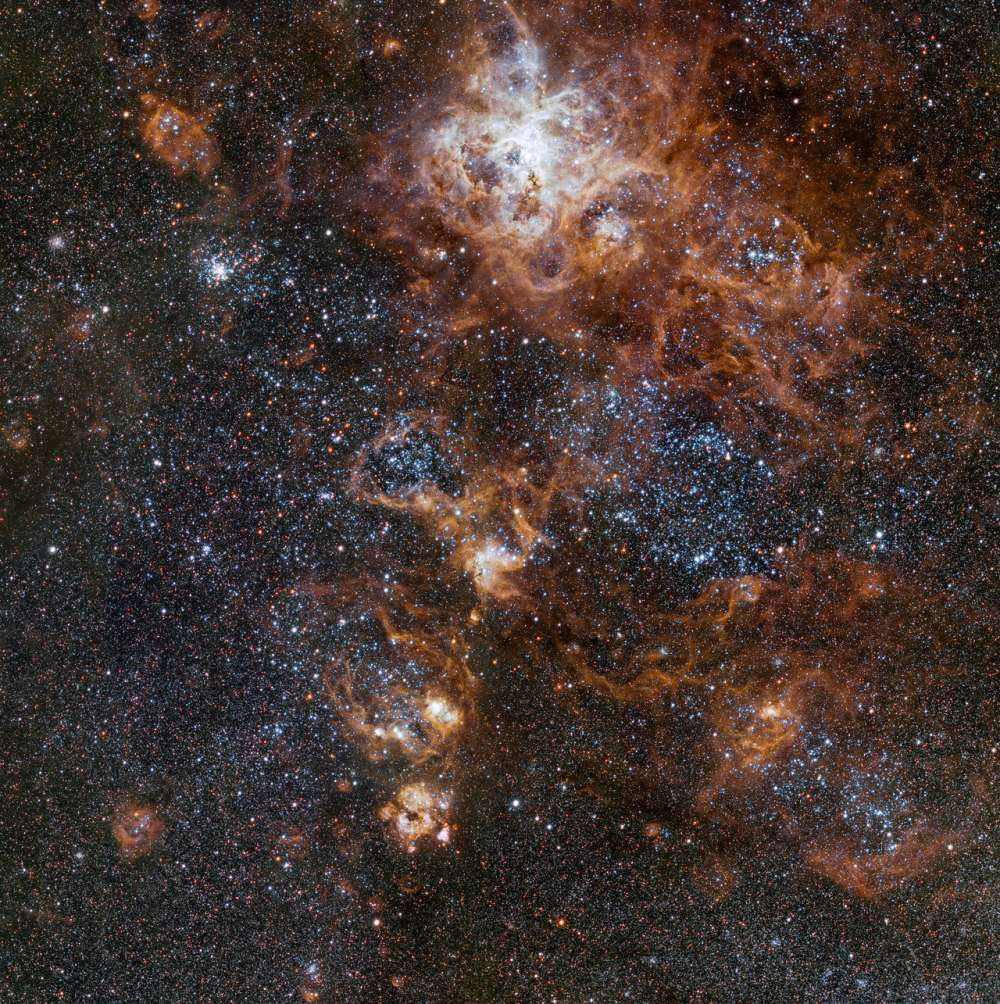 The rich region around the Tarantula Nebula in the Large Magella