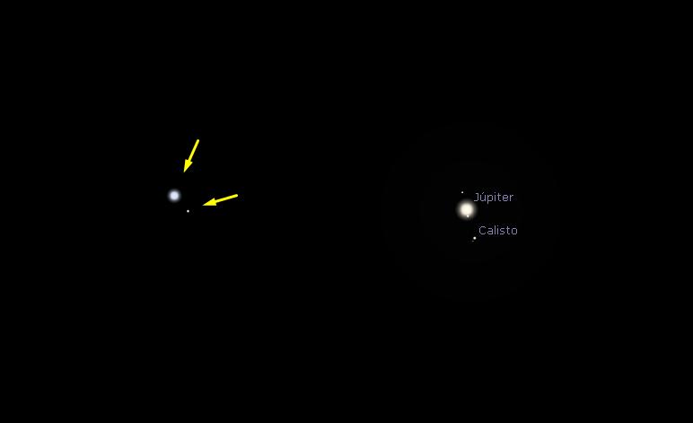 """Um zoom na estrela ou """"estrelas""""."""