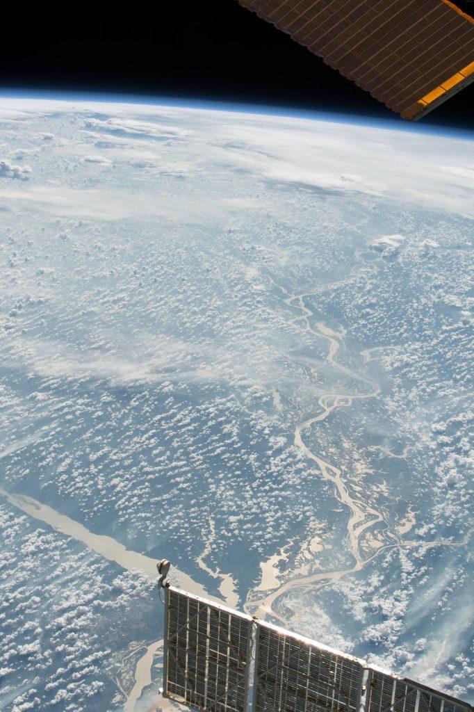 Agora o rio de outro ângulo e registrado pelo astronauta Mark Vande.