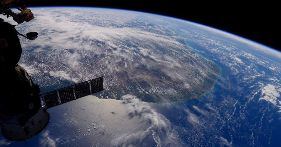 Sam Cristoforetti é astronauta e registrou essa bela imagem do extremo do nordeste.