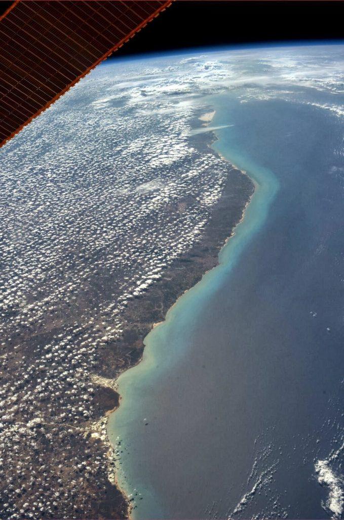 Costa do nordeste registrada pela astronauta Karen Nyberg.