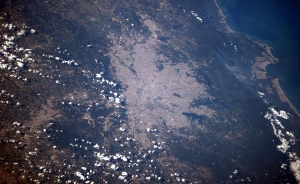 Imagem de São Paulo registrada pelo astronauta Reid Wiseman.