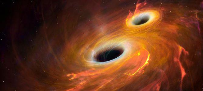 O que aconteceria se dois buracos negros se colidissem?