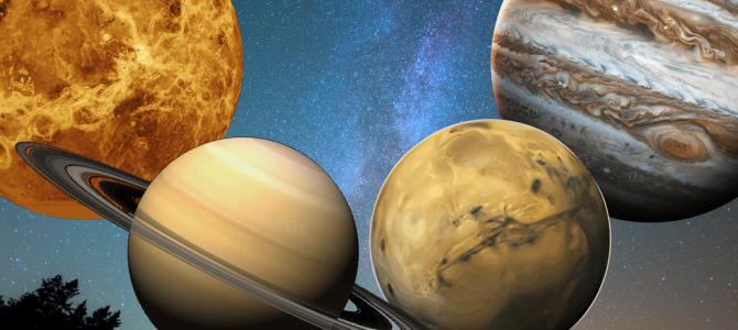 Quais são os planetas atualmente visíveis no céu?
